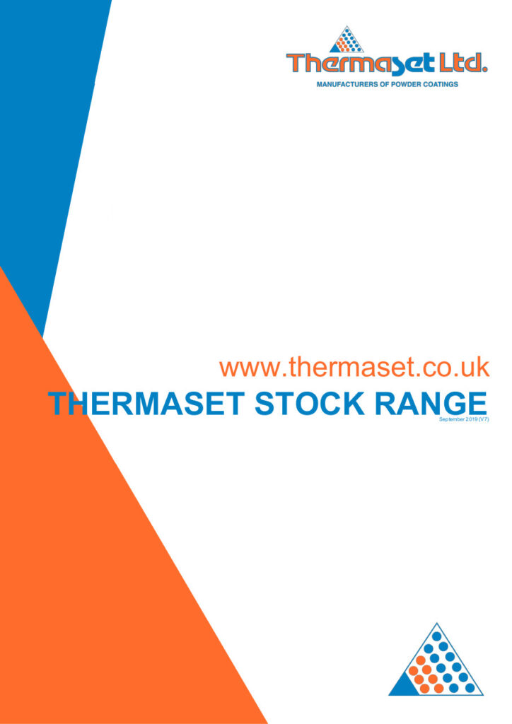 Thermaset powder coatings - stock range